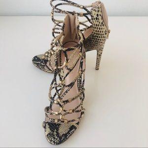 ALDO Snake Skin High Heels Size 8,5